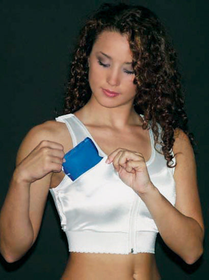 Compression Bra with Ice Packs