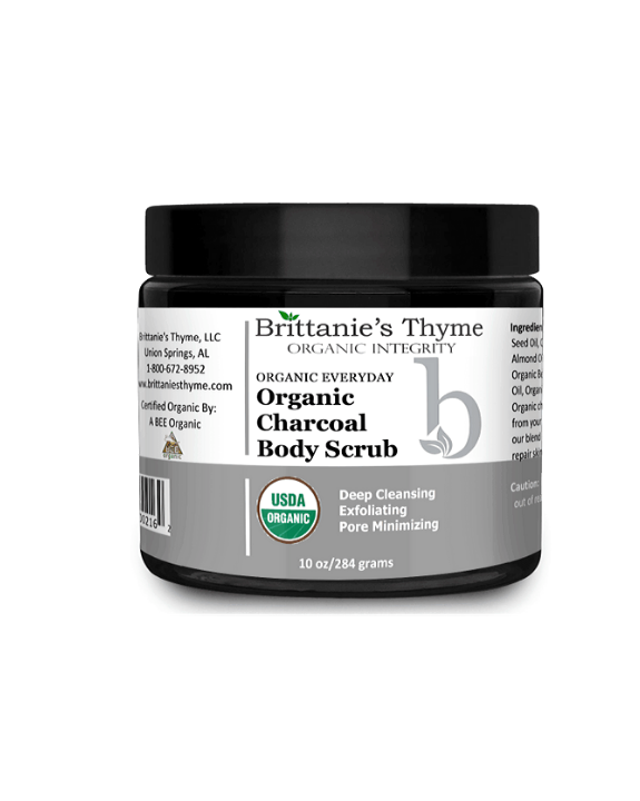 Organic Charcoal Body Scrub