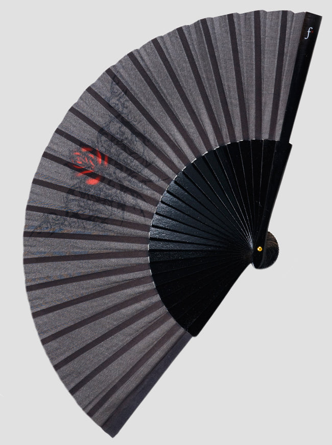 Gothic Rose Hand Fan