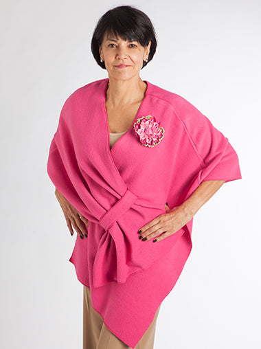 Fuscia Pink Fleece Wrap