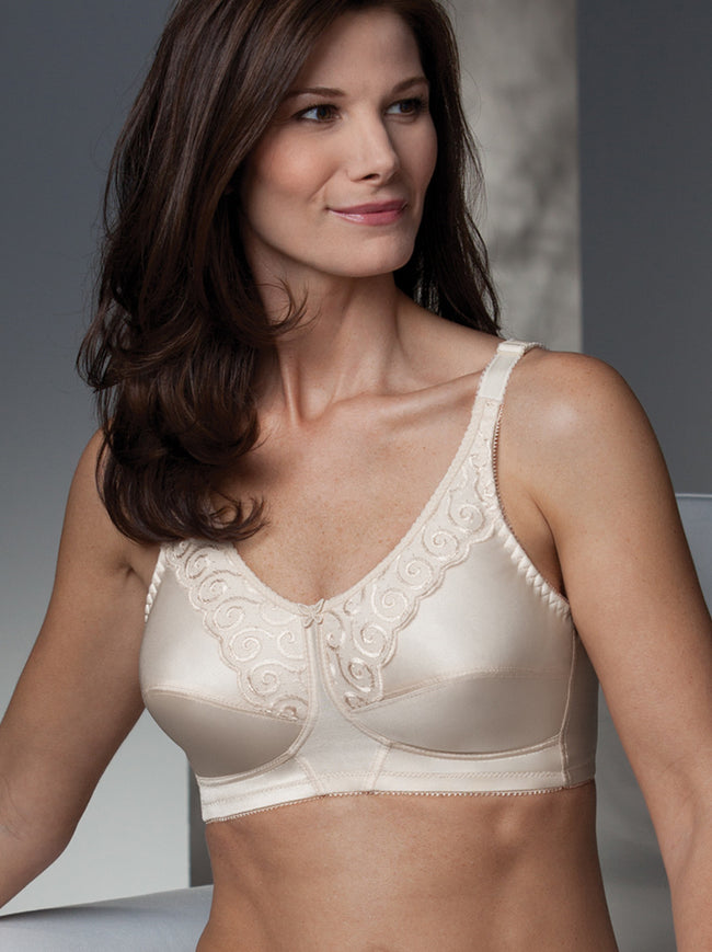 Rose Support Pocketed Embossed Bra