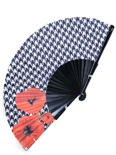 Red Poppies Hand Fan