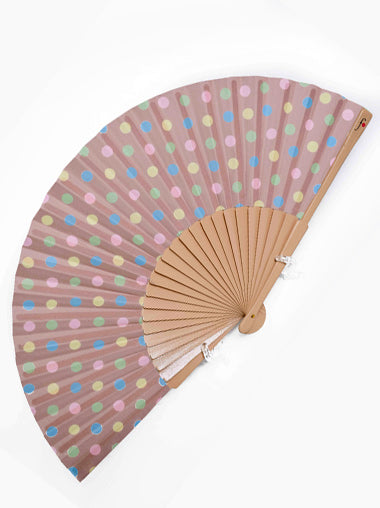 Retro Polka Hand Fan