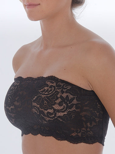 Unlined Lace Bandeau Bra