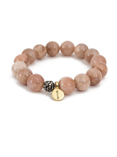 Sunstone Bracelet with Brass Spira Charm