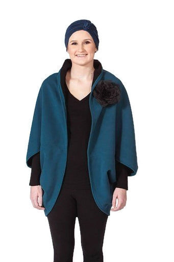 Teal Fleece Wrap