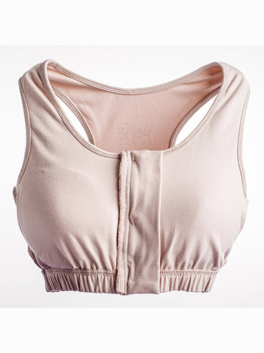 Nude Zipper Pocket Bra