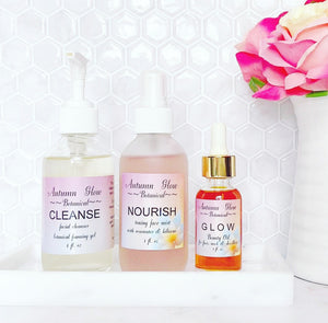 Autumn Glow Botanical: The Trio~ CLEANSE, NOURISH, GLOW