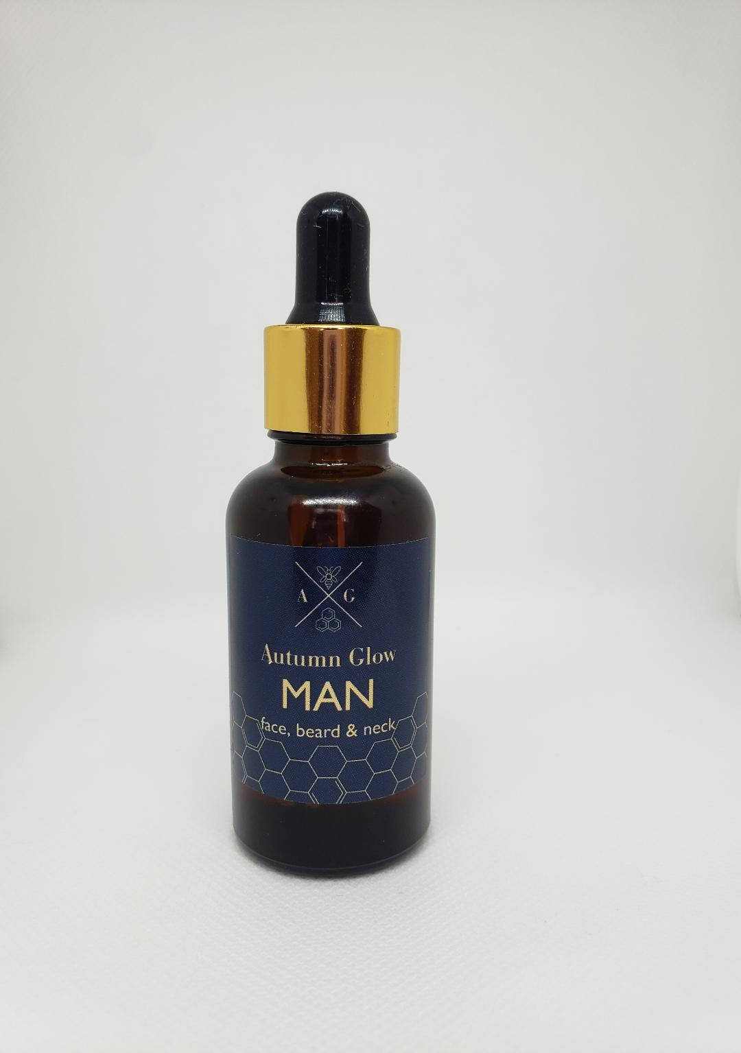 Men's Grooming Oil for Face and Beard