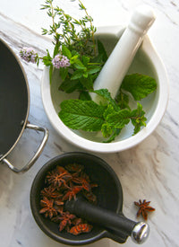 The Herbalist's Mortar and Pestle