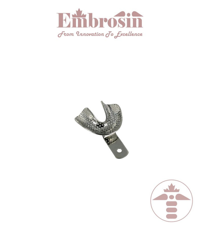 XE07-002L-L - Dental Impression Trays (Edentulous), Lower, Large (Perforated)