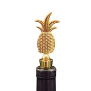 Gold Pineapple Decorative Wine Bottle Stopper & Champagne Plug, Party Favor for Weddings or Great Gift