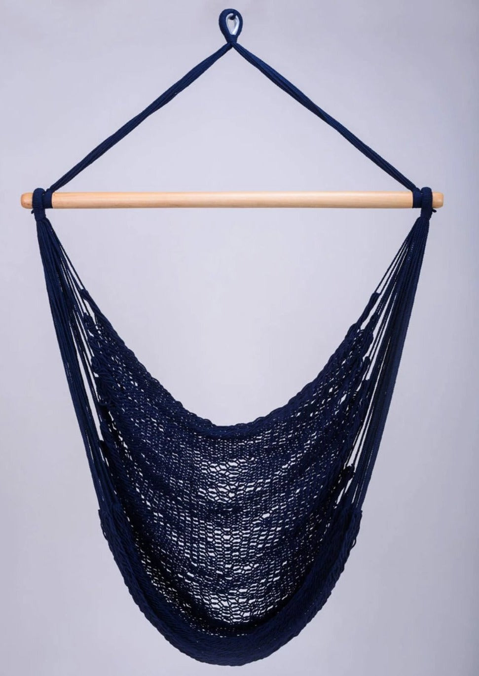 Navy Blue Cotton Hammock Swing