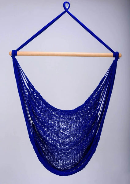 blue cotton hammock chair swing handmade