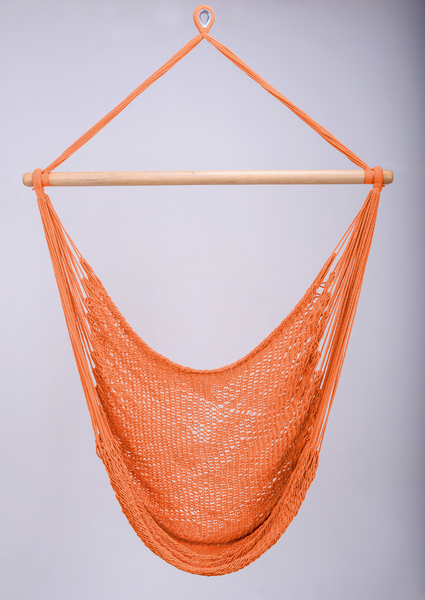 Vivid Orange Cotton Hammock Swing