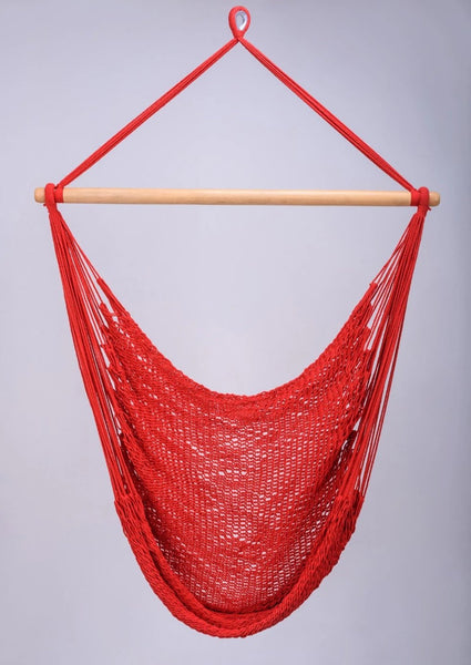 Red Cotton Hammock Swing Handmade High Quality