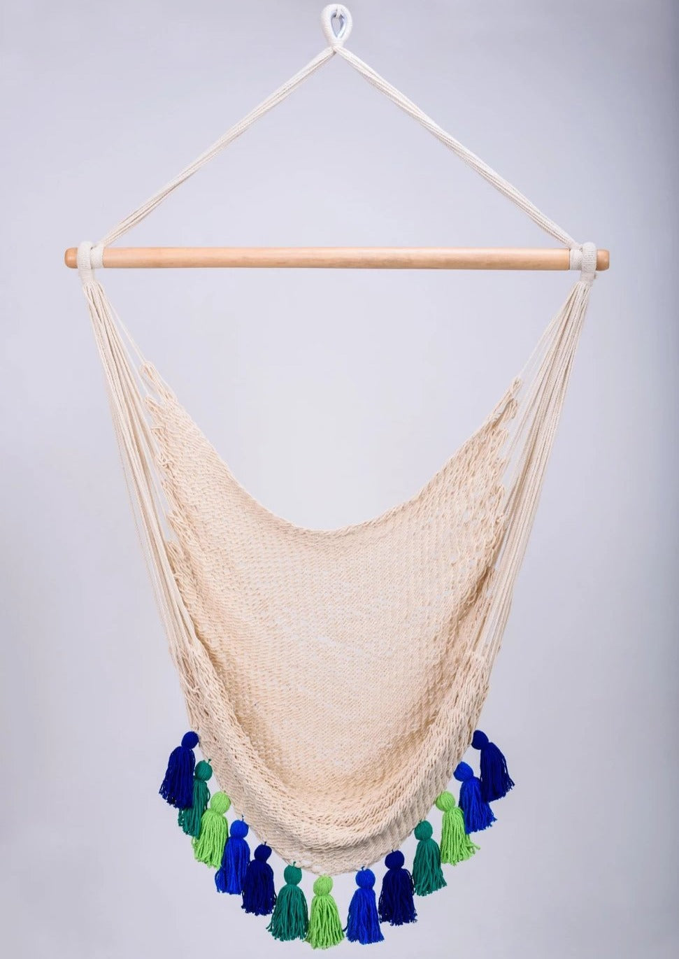 Cotton Natural Hammock Swing With Tassels Handmade High Quality