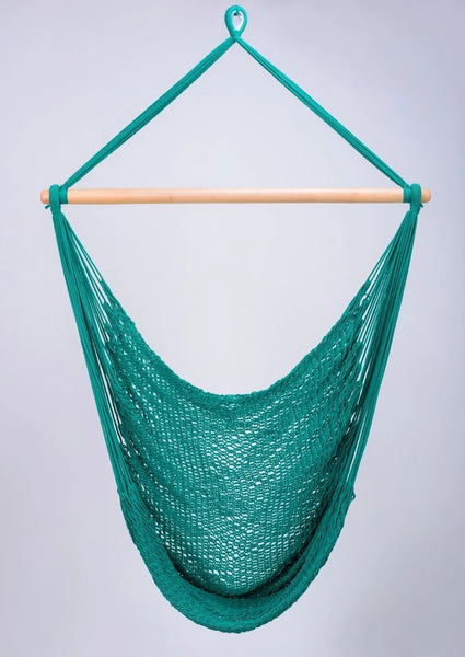 Teal Green Cotton Hammock Swing Handmade High Quality