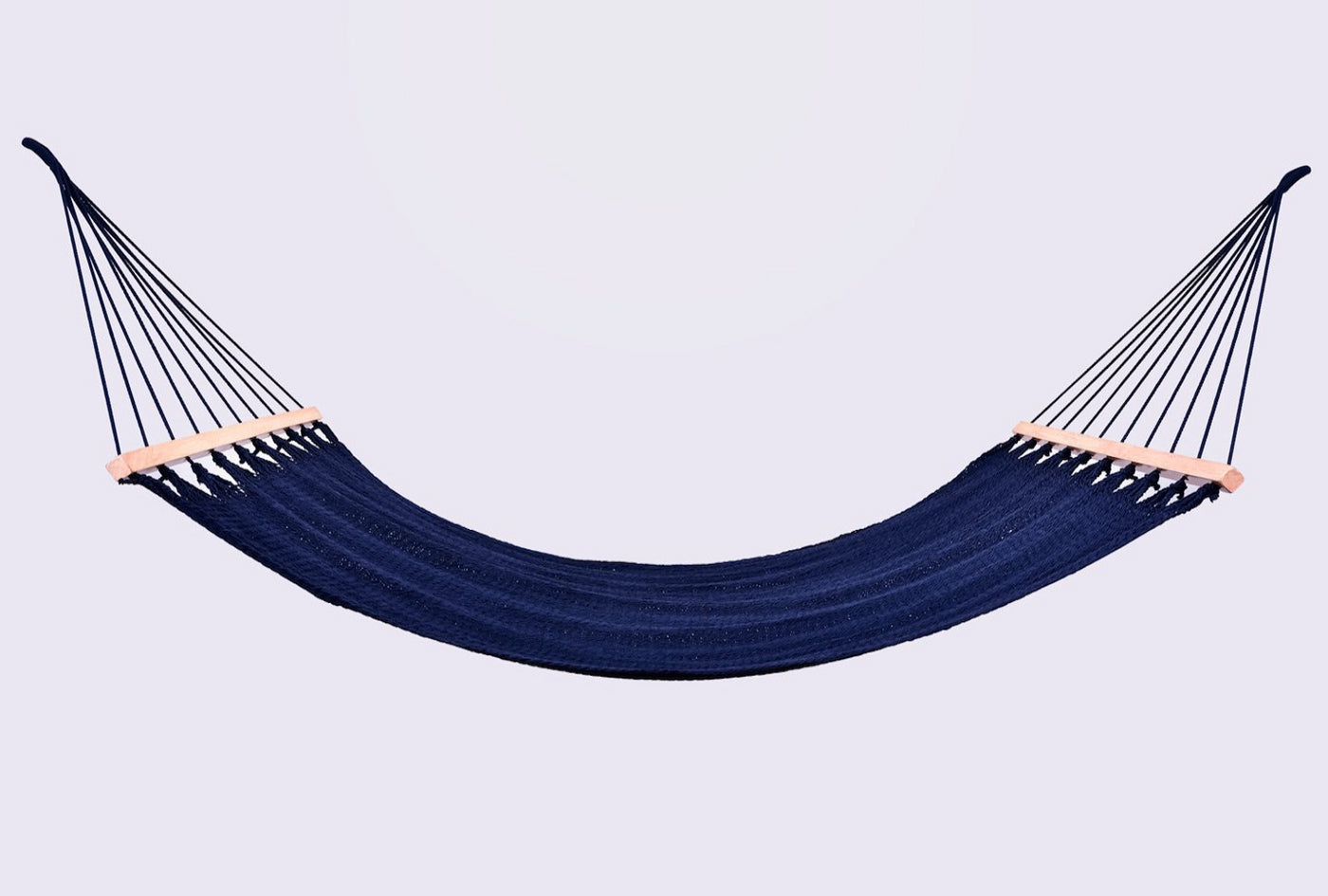 Luxury High End Hammock Handwoven Organic Cotton Spectrum  Navy Blue