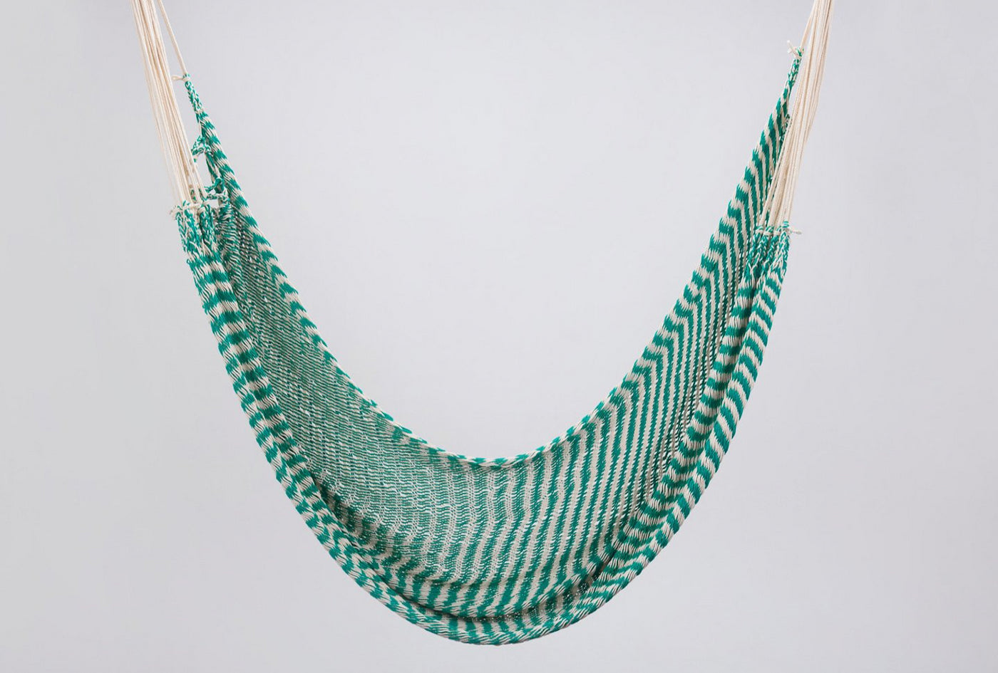 Camping Hammock Natural and Green Stripes Personal Handmade High Quality