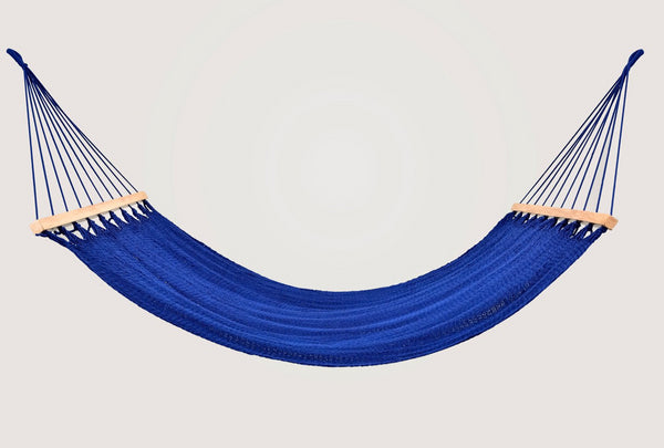Cotton Cobalt Blue Hammock Wooden Bar Handmade High Quality