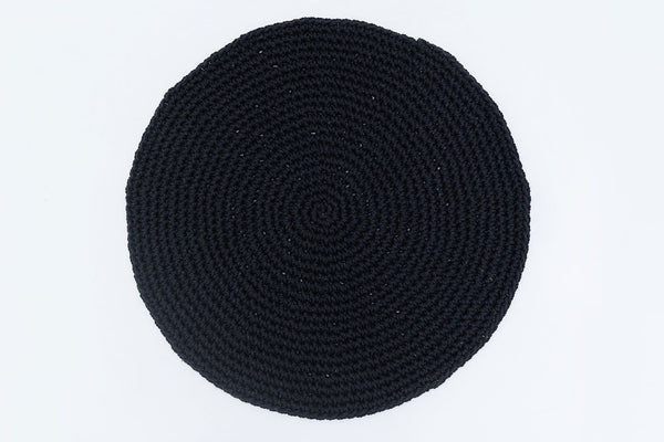Black Cotton Placemats (Set of 4 or 6) - Round