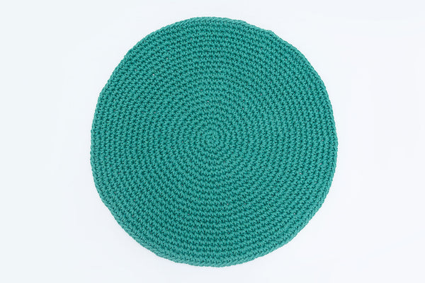 Teal Green Cotton Placemats (Set of 4) - Round