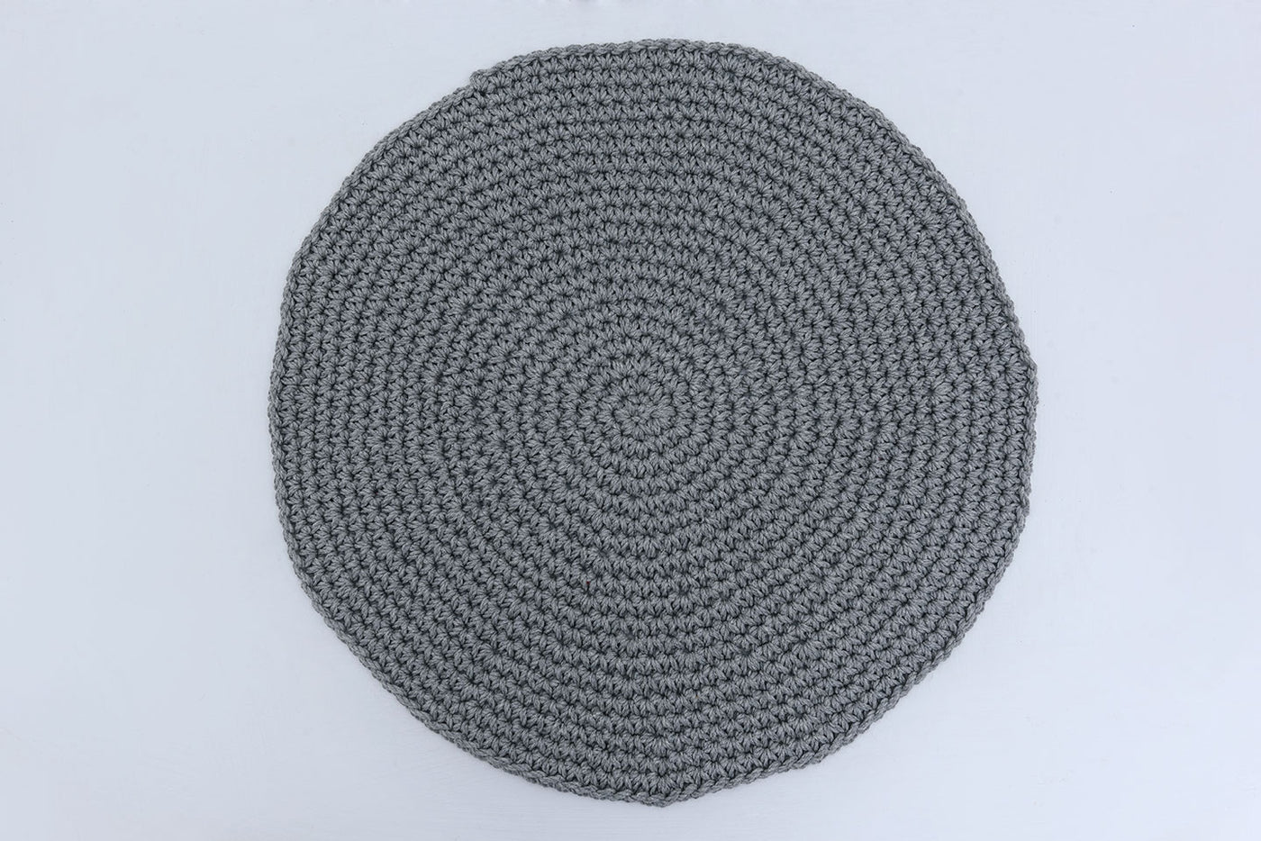 Light Charcoal Gray Cotton Placemats (Set of 4 or 6) - Round