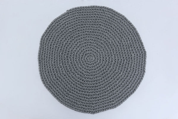 Light Charcoal Gray Cotton Placemats (Set of 4) - Round