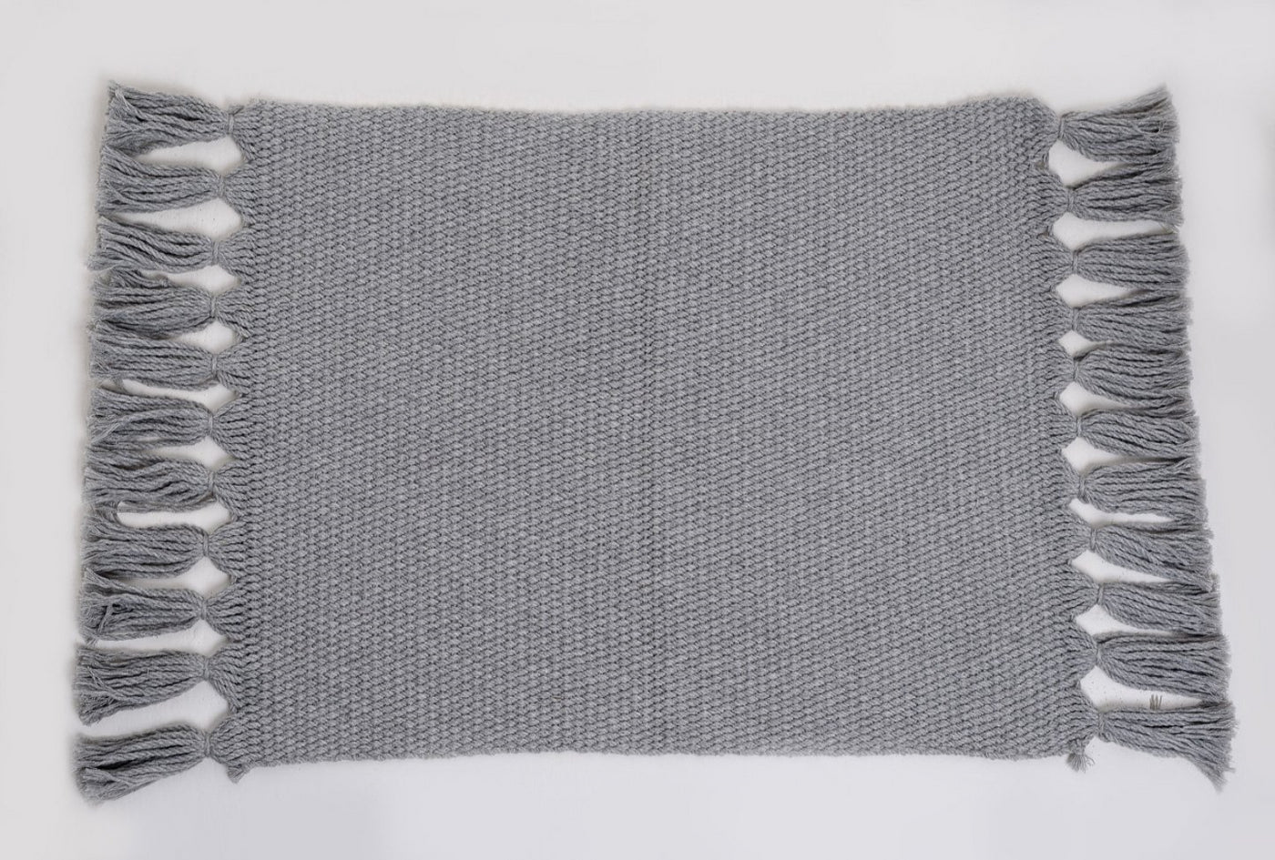 Gray Handmade Cotton Placemats Set of 6 Formal Casual Decor