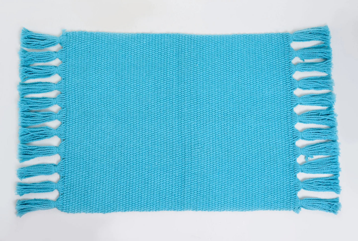 Sky Blue Handmade Cotton Placemats Set of 6 Formal Casual Decor