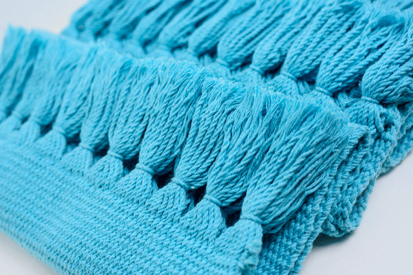 Sky Blue Handwoven Cotton Placemats - Set of 6 Summer Collection