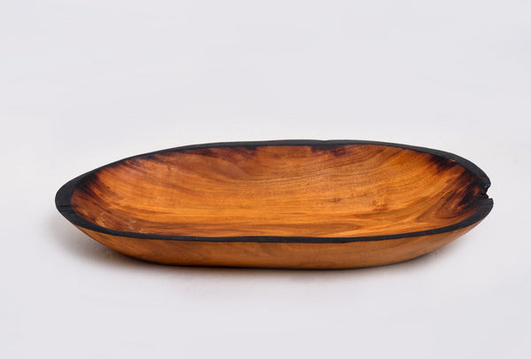 Natural Wooden Oval Tray Serveware