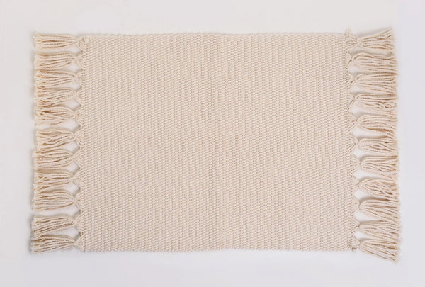 Natural Handmade Cotton Placemats Set of 6 Formal Casual Decor