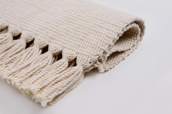 Natural White Organic Cotton Handwoven Placemats - Set of 6 Core Collection
