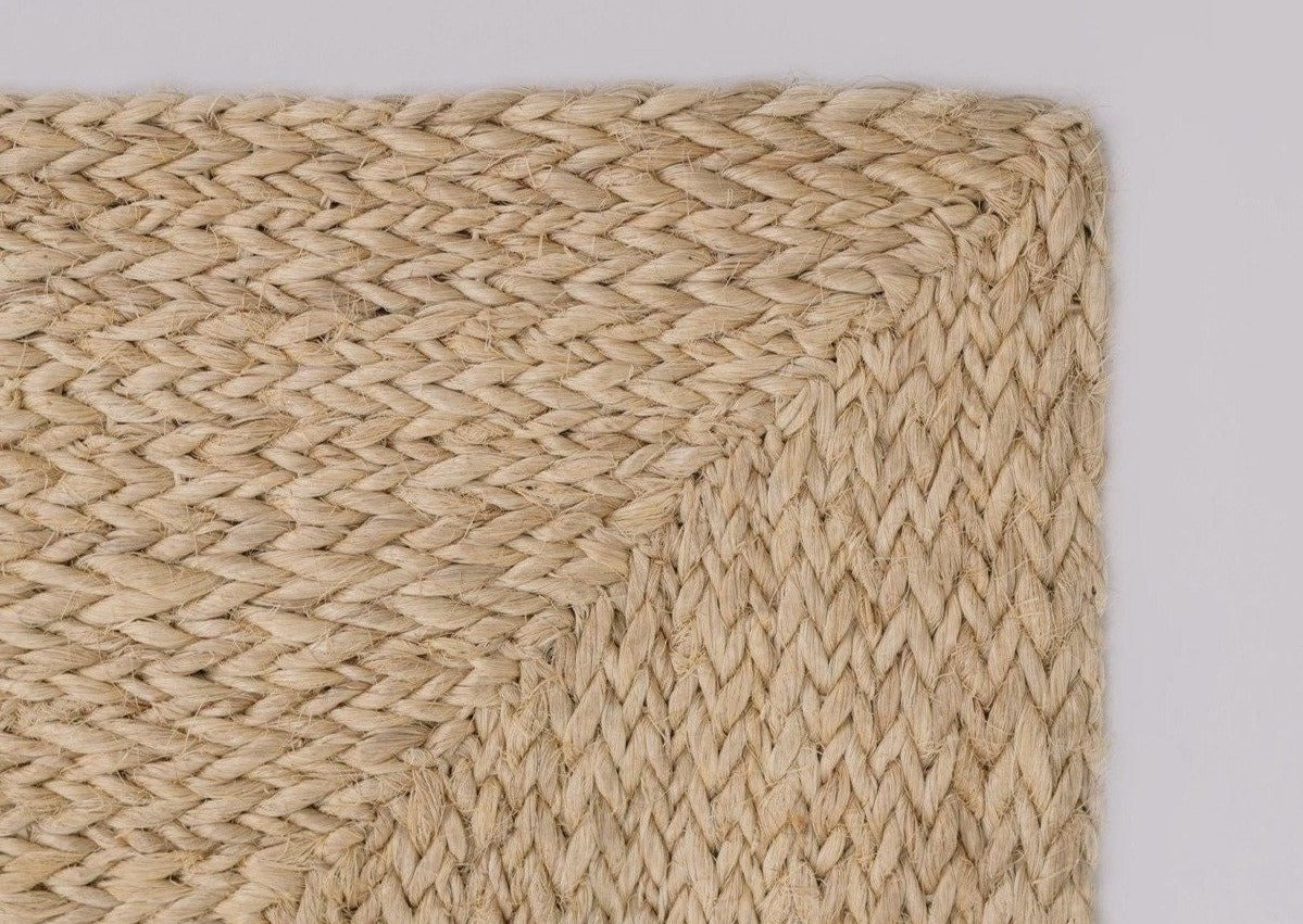 The Monimbó Handwoven Rectangular Natural Sisal Rug Collection, Multiple Sizes