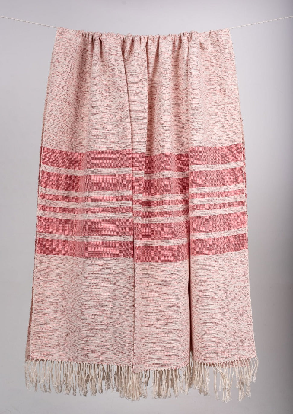 Cherry Blossom Striped Cotton Throws & Blankets  (4 sizes)