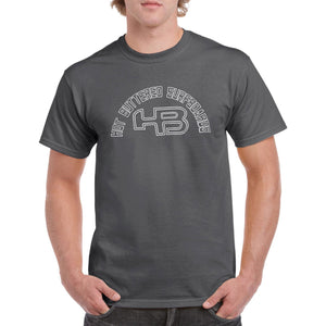 Outlines Short Sleeve Cotton Tee - Charcoal