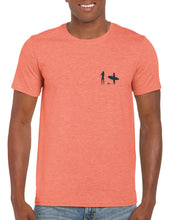 Load image into Gallery viewer, Moongazer Short Sleeve Cotton tee - Orange