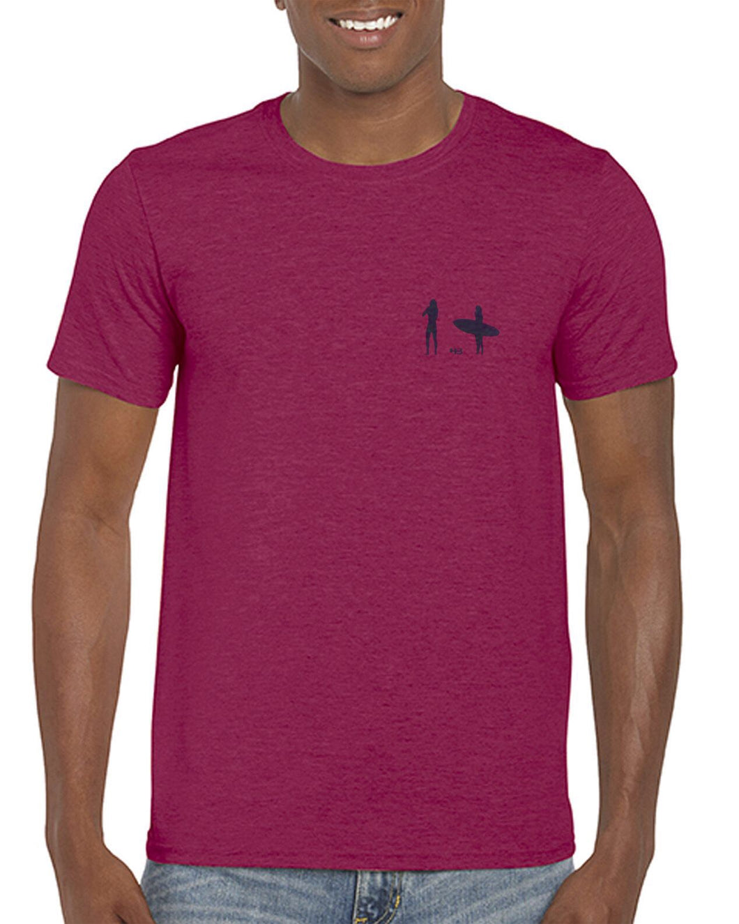 Moongazer Short Sleeve Cotton tee - Burgandy