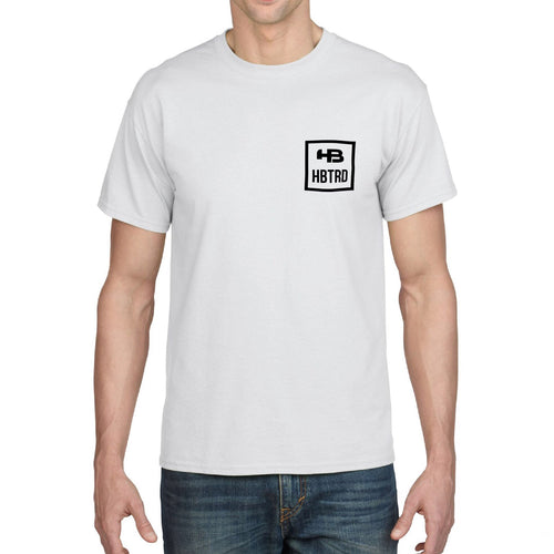 Squared Short Sleeve Cotton Tee - White