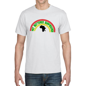Africa Short Sleeve Cotton Tee - White