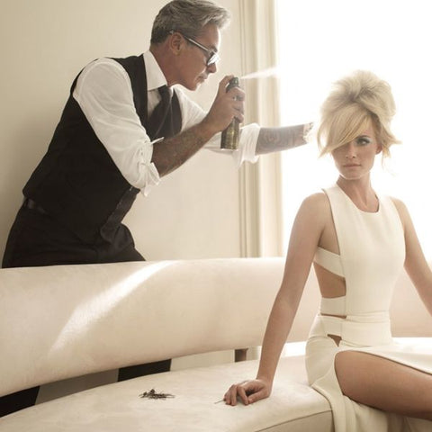 Oribe at work, behind the scenes