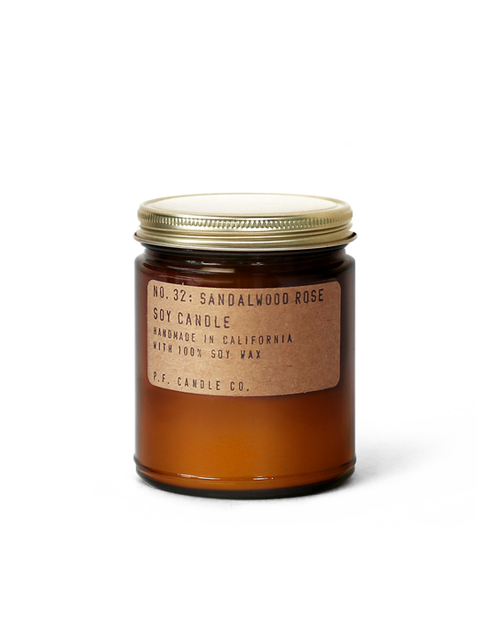 p.f candle co | sandalwood rose candle