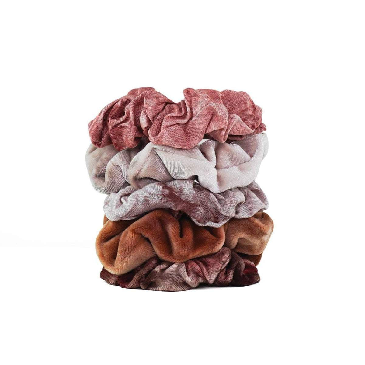 kitsch | tie dye scrunchies - rust - KISS AND MAKEUP