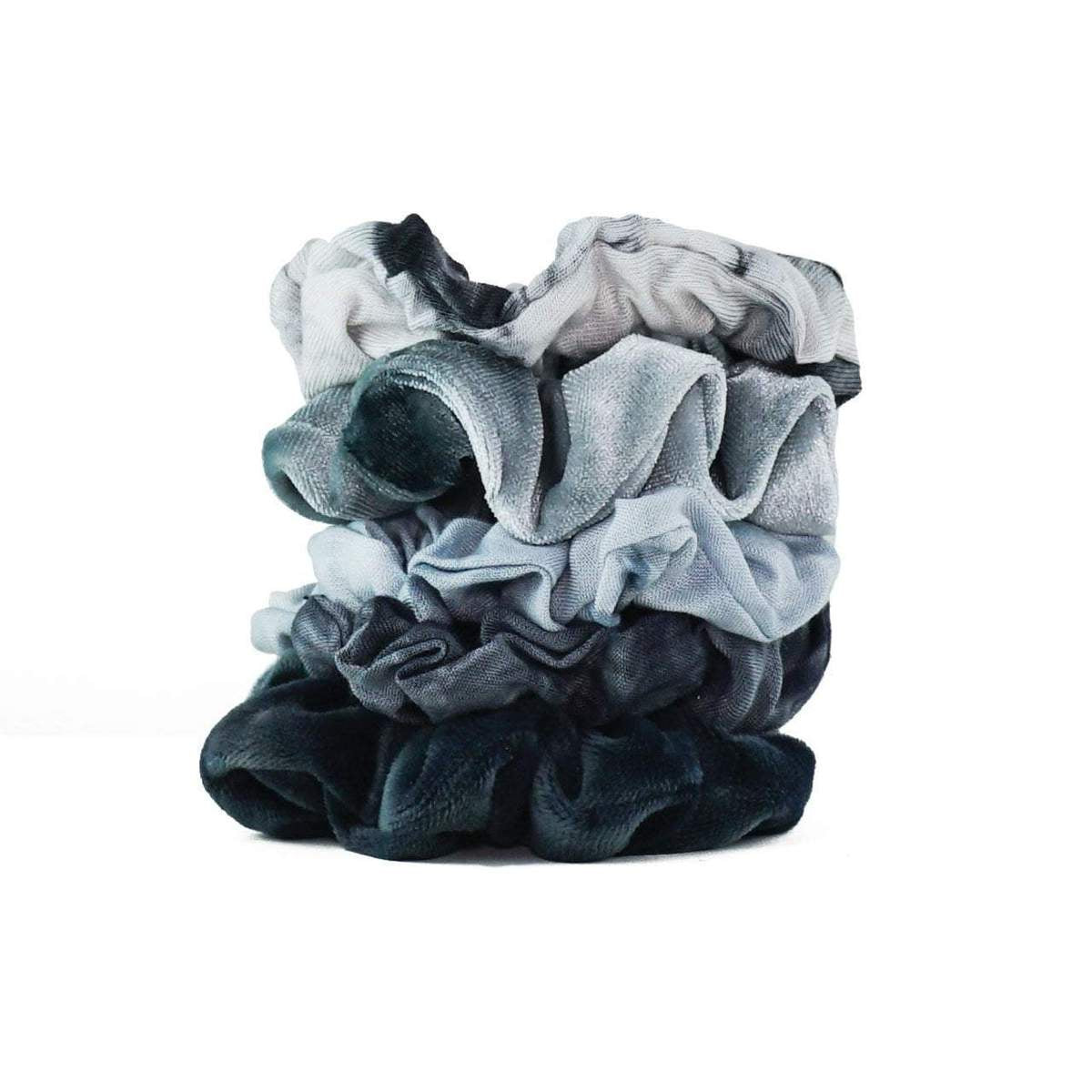kitsch | tie dye scrunchies - slate - KISS AND MAKEUP