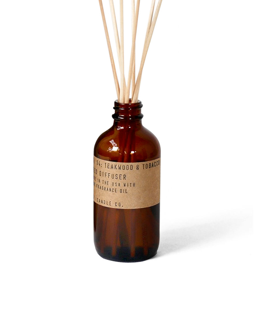p.f candle co | teakwood & tobacco - reed diffuser