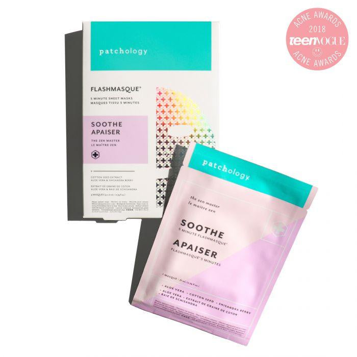 patchology | soothe - 5 minute sheet mask - KISS AND MAKEUP