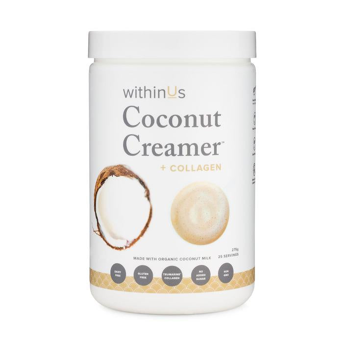 withinUs | coconut creamer + collagen - KISS AND MAKEUP