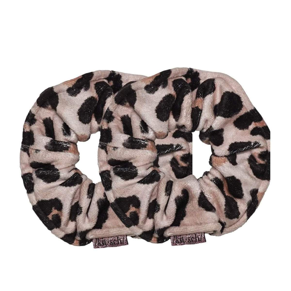 kitsch | microfiber towel scrunchies - leopard - KISS AND MAKEUP